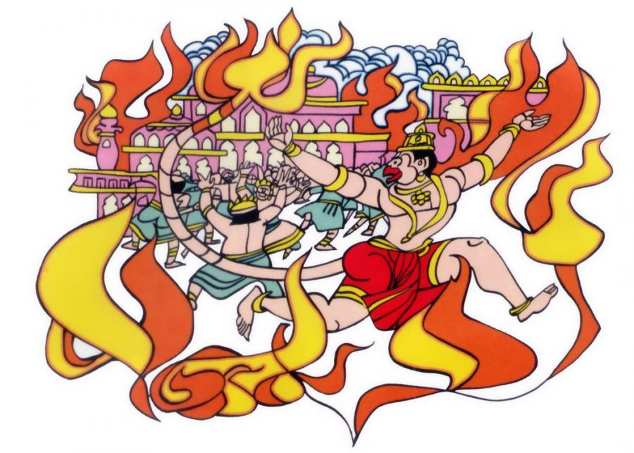 Lankadahanam lanka dahanam Ramcharitmanas